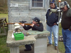 Members of LRC help a Hunter's Sight-In Participant